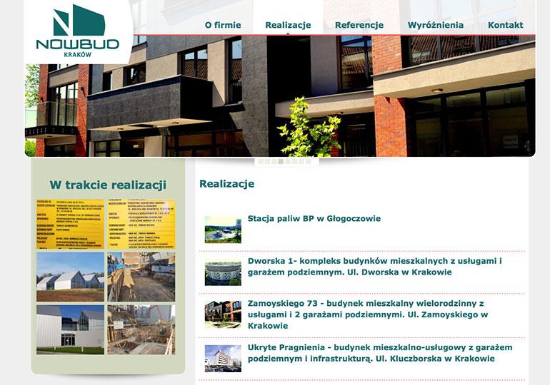 """Strona internetowa """"Nowbud-Kraków"""""""