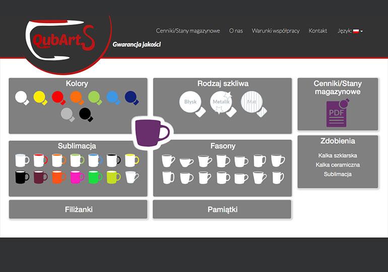 Strona internetowa dla – Qubarts