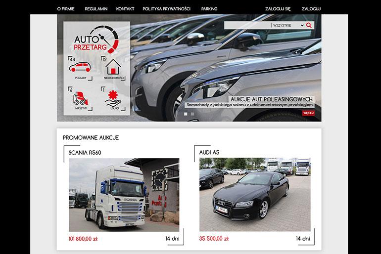 Projekt graficzny strony autoprzetarg.pl