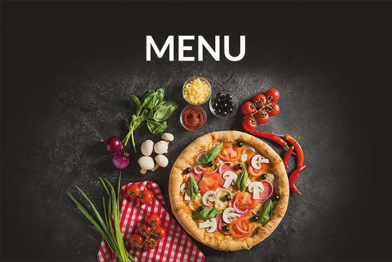Projekt graficzny menu dla pizzerii